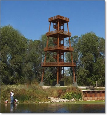 Tallest wooden observation tower in Sheboygan marsh wildlife area