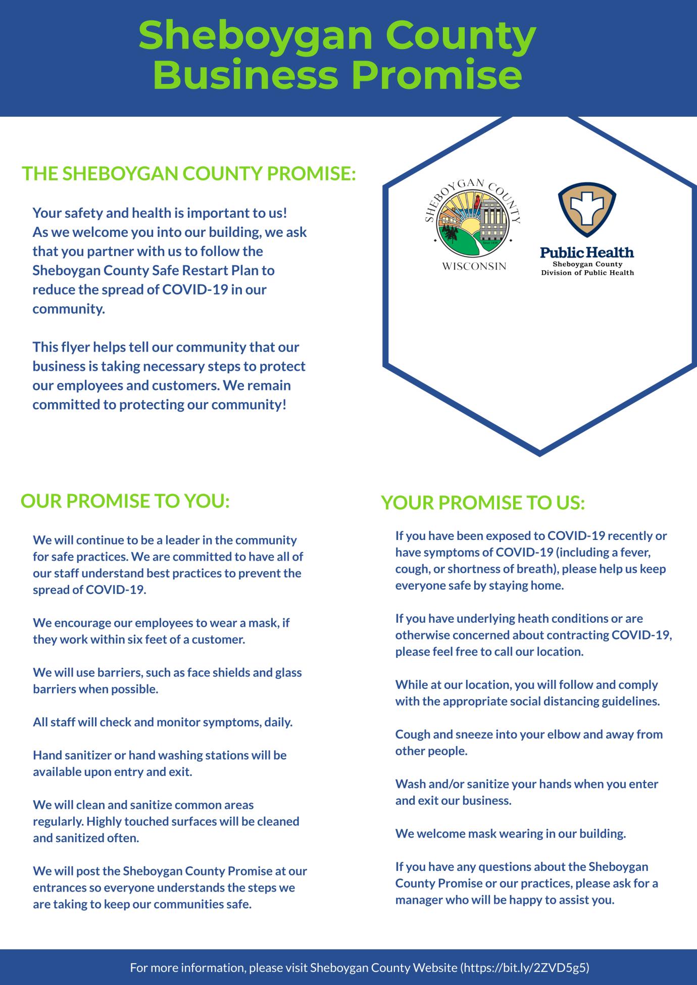 Sheboygan County Business Promise Sheboygan County