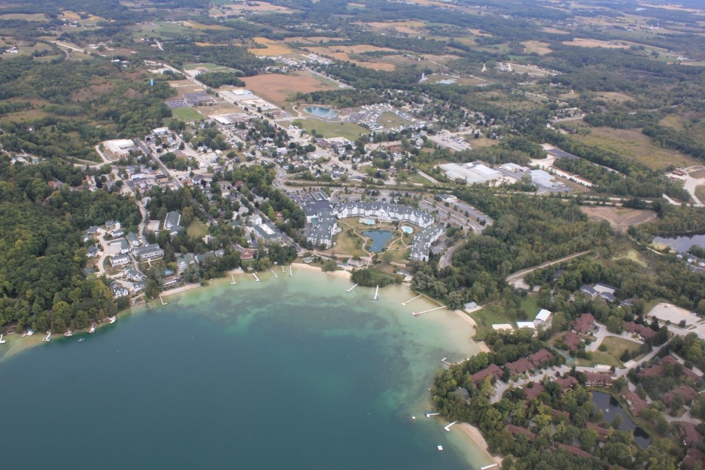 View of Elkhart Lake Looking North